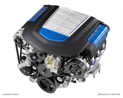 Desvelado el motor LS9 V8 6.2 del Chevrolet Corvette ZR-1