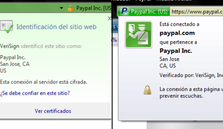Seguridad anti-phishing de FF3 y IE7