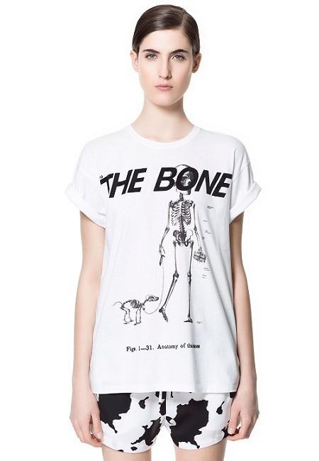 Camisetas molonas: huesos, esqueletos y calaveras para ellas