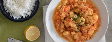 Coliflor tikka masala: receta ligera vegetariana con la que no te quedarás con hambre (también con Magimix Cook Expert)