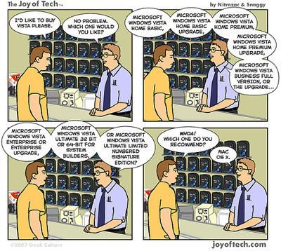La imagen de la semana: elige una versión de Windows Vista, si puedes