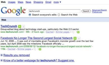 Google vuelve a probar las votaciones en los resultados