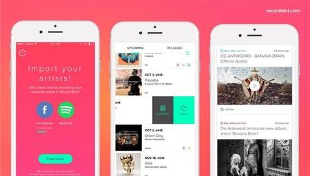 Record Bird, una app que te envían notificaciones para que conozcas los nuevos lanzamientos musicales