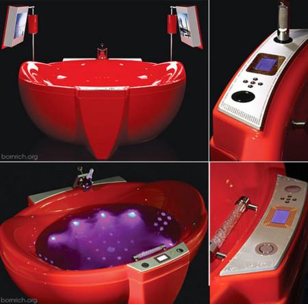 Bañera con hidromasaje, HDTV y móvil