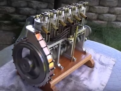 Todo un seis cilindros de gasolina para exponer en la estantería, ¿te animas a hacer uno?