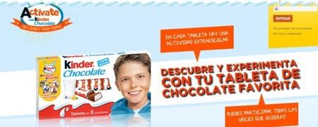 Campaña ´Actívate` con Kinder Chocolate, regalan a los peques actividades