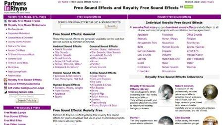 Partners in Rhyme, un sitio que vende audios libres de derechos con algunas descargas gratuitas