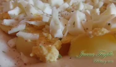 Patatas a la vinagreta. Receta para embarazadas