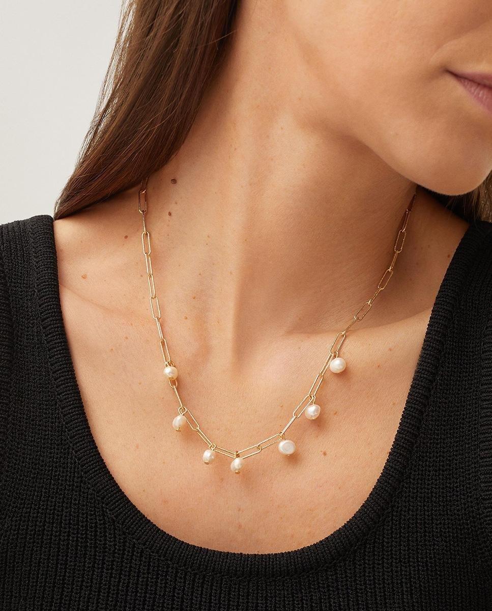 Collar Parfois de eslabones con perlas