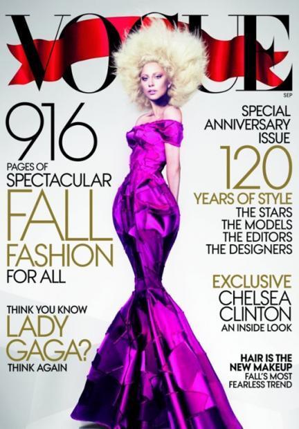 ¡Faltaría más!, Lady Gaga protagoniza el número más grande en la historia de Vogue