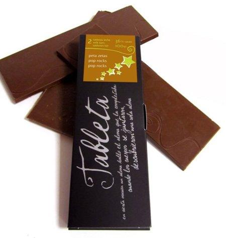 Tableta de chocolate con peta zetas de Alma de Cacao