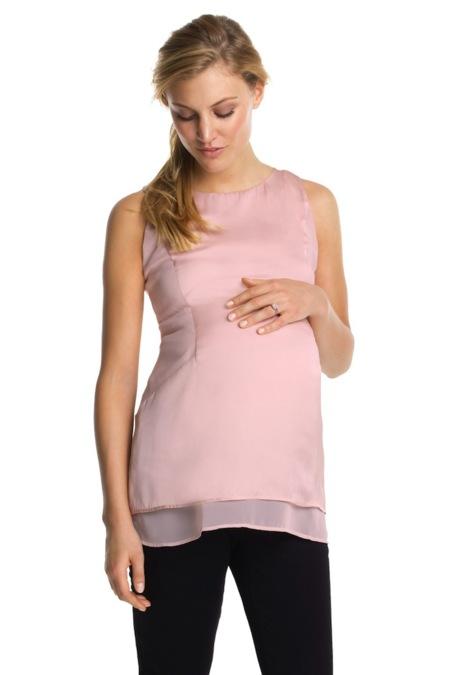 Blusa holgada off the shoulder con tirante fino y con puntillas verticales.