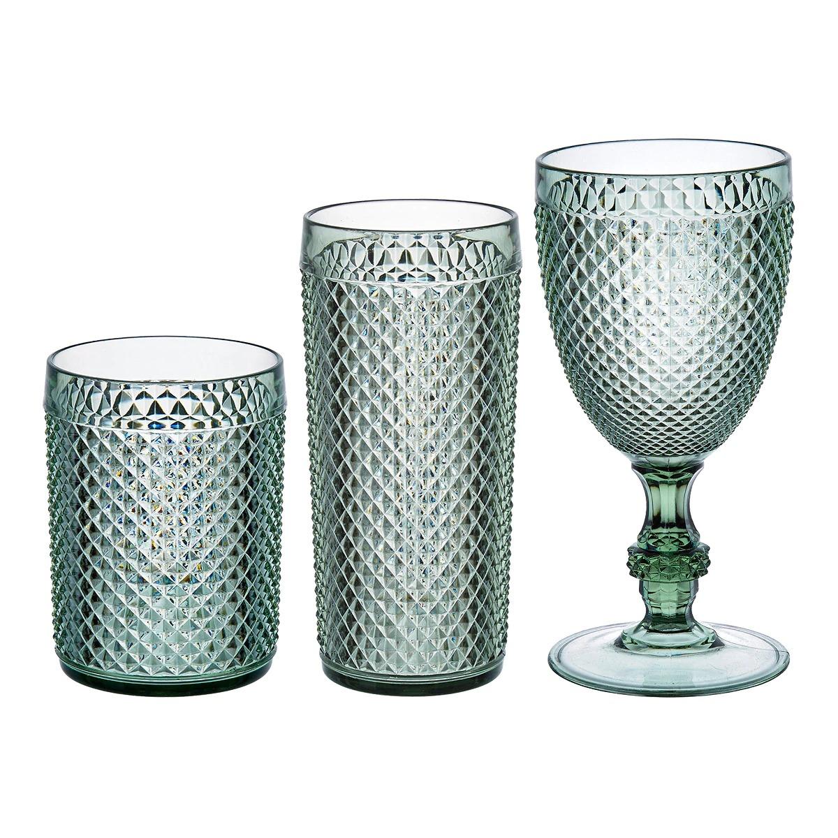 Cristalería de acrílico por piezas Picas Verde