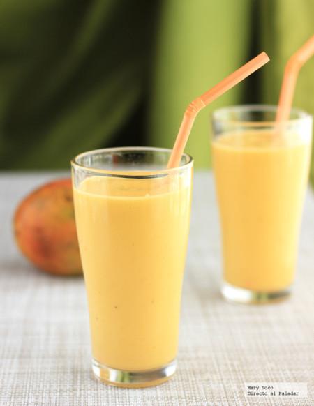 Smoothie de mango y piña. Receta