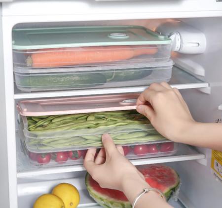 Caja NeveraCaja de piel transparente para almacenamiento de alimentos en la cocina, almacenamiento de frijoles, contiene organizador de Casa sellado, contenedor de alimentos, cajas de almacenamiento para refrigerador