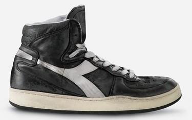Lo más trendy de Diadora: zapatillas MI Basket 84 con efecto usado
