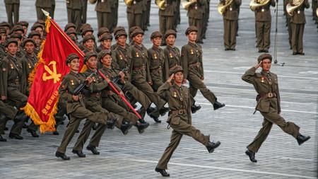 Marcha militar en Corea del Norte