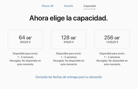 Stock iPhone XR agotado