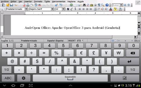 AndrOpen Office, la versión de Apache OpenOffice para Android