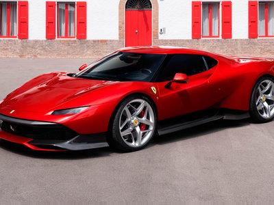 El Ferrari SP38 es un one-off que dice inspirarse en el Ferrari F40 pero se parece más al Stratos