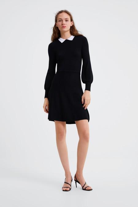 Vestido Negro Zara 4