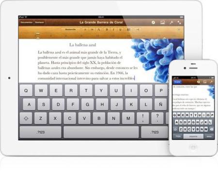 iWork es la suite ofimática de Apple para el iPad