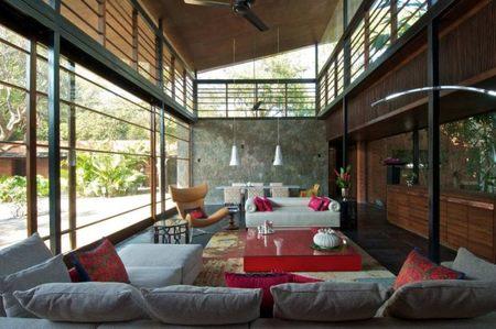 Casa Brick Kiln, lucha entre la naturaleza y el diseño del hombre
