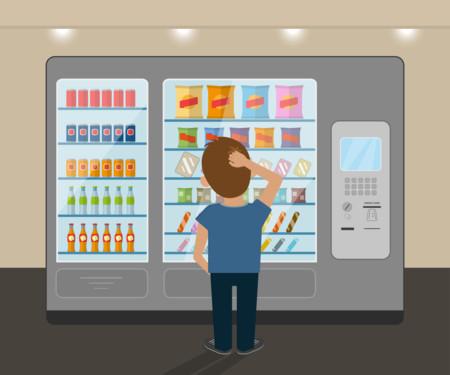 Frente a una máquina expendedora saludable sí podríamos decirles a los niños que elijan lo que quieran