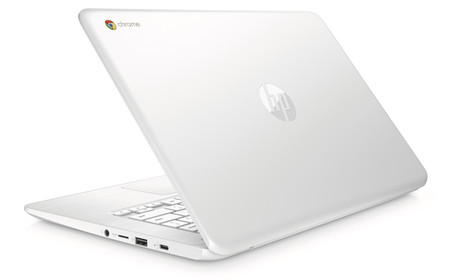 Hp Chromebook 14 Snowwhite Rearleft