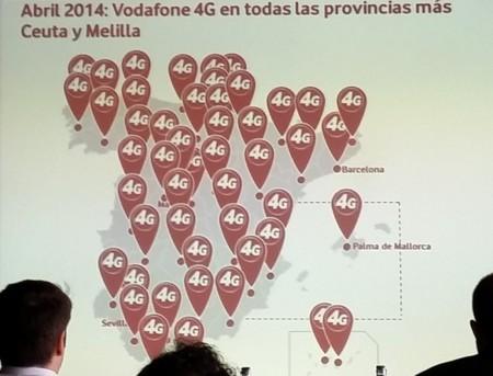 Vodafone 4G llega a todas las capitales de provincia
