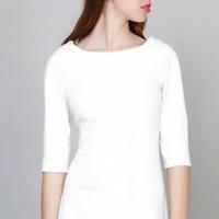 vestido blanco liso de ACollection