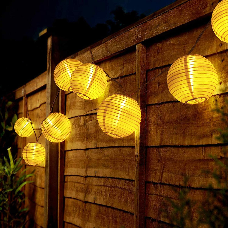 Farolillos de luz solar exterior