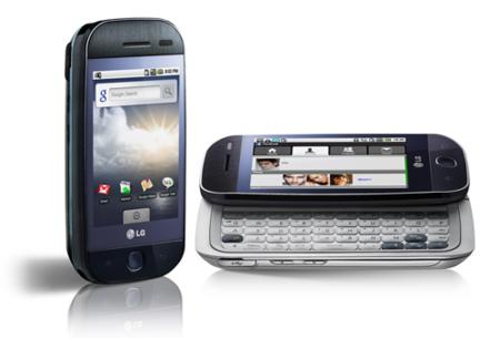 LG GW620, su primer móvil Android