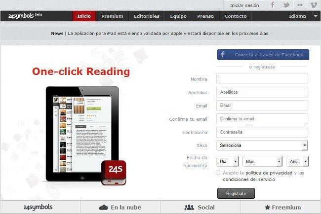 """24symbols permite acceder a los """"eBooks"""" de la Biblioteca Cervantes"""
