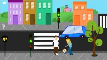 Vídeo sobre educación vial para enseñar a cruzar la calle a los peques