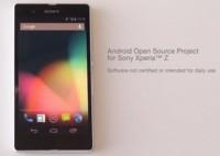 Sony Xperia Z también se une al AOSP