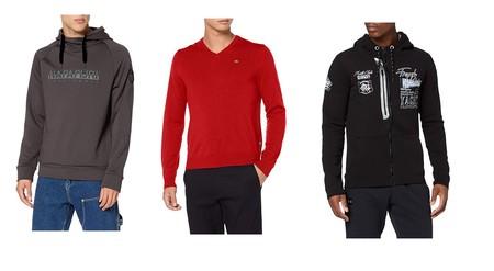 Chollos en tallas sueltas de  camisetas y sudaderas de marcas como Geographical Norway, Napapijri o Helly Hansen en Amazon