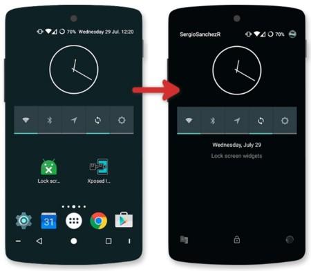 Nuevo módulo de Xposed permite usar widgets en la pantalla de bloqueo de Lollipop
