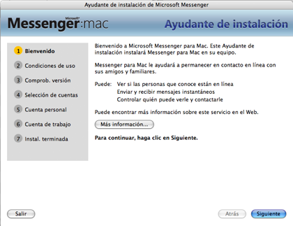MSN Messenger for Mac 7
