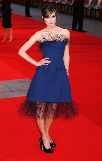 El look de Keira Knightley en el estreno de The Dutchess en Londres