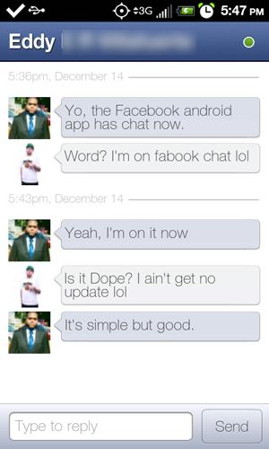 El chat y las notificaciones llegan a la aplicación oficial de Facebook para Android