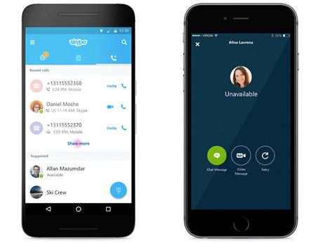 Skype moderniza su aplicación para móviles, aunque tienen mucho trabajo por delante