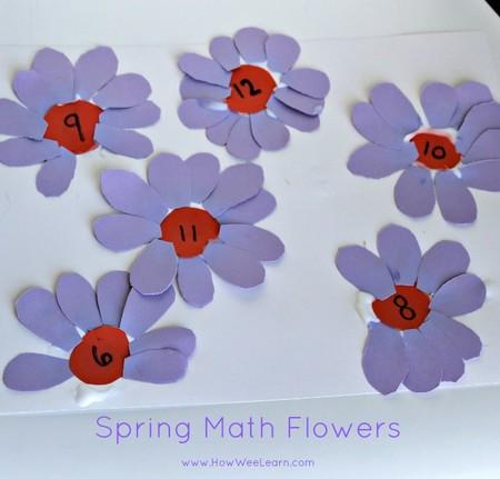 Manualidades Numeros Flores