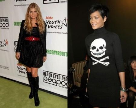 Rihanna y Fergie en la fiesta benéfica de la Fundación Peapod