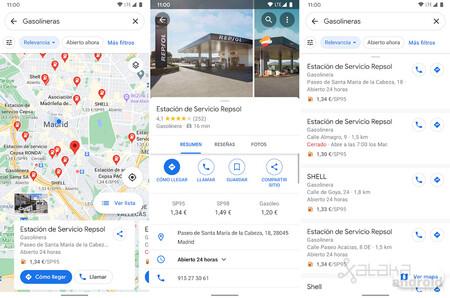 Google Maps Precio Gasolineras