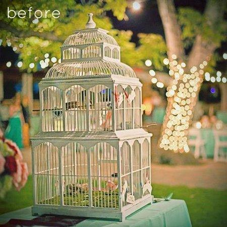 Recicladecoración: lámparas hechas con jaulas de pájaros