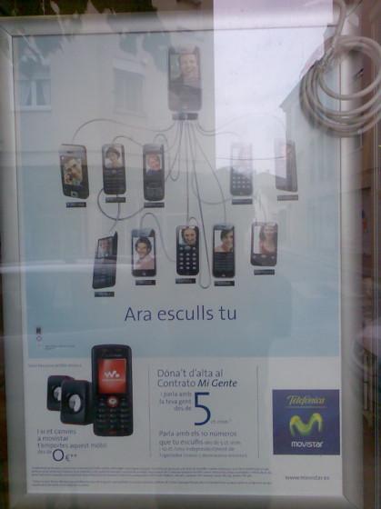 iPhone en publicidad de Movistar