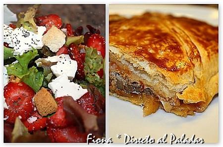 Día del tuper - ensalada de fresas y hojaldre de sardinas