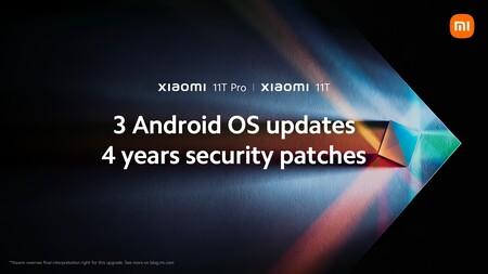 """Xiaomi promete tres actualizaciones de Android para los Xiaomi 11T y 11T Pro, y """"evaluará"""" extender el soporte a otros smartphones"""