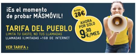 Empieza la gira del ahorro de MÁSMÓVIL con la Tarifa del Pueblo a sólo 9,90 euros